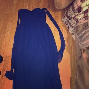 Blue homecoming/prom dress
